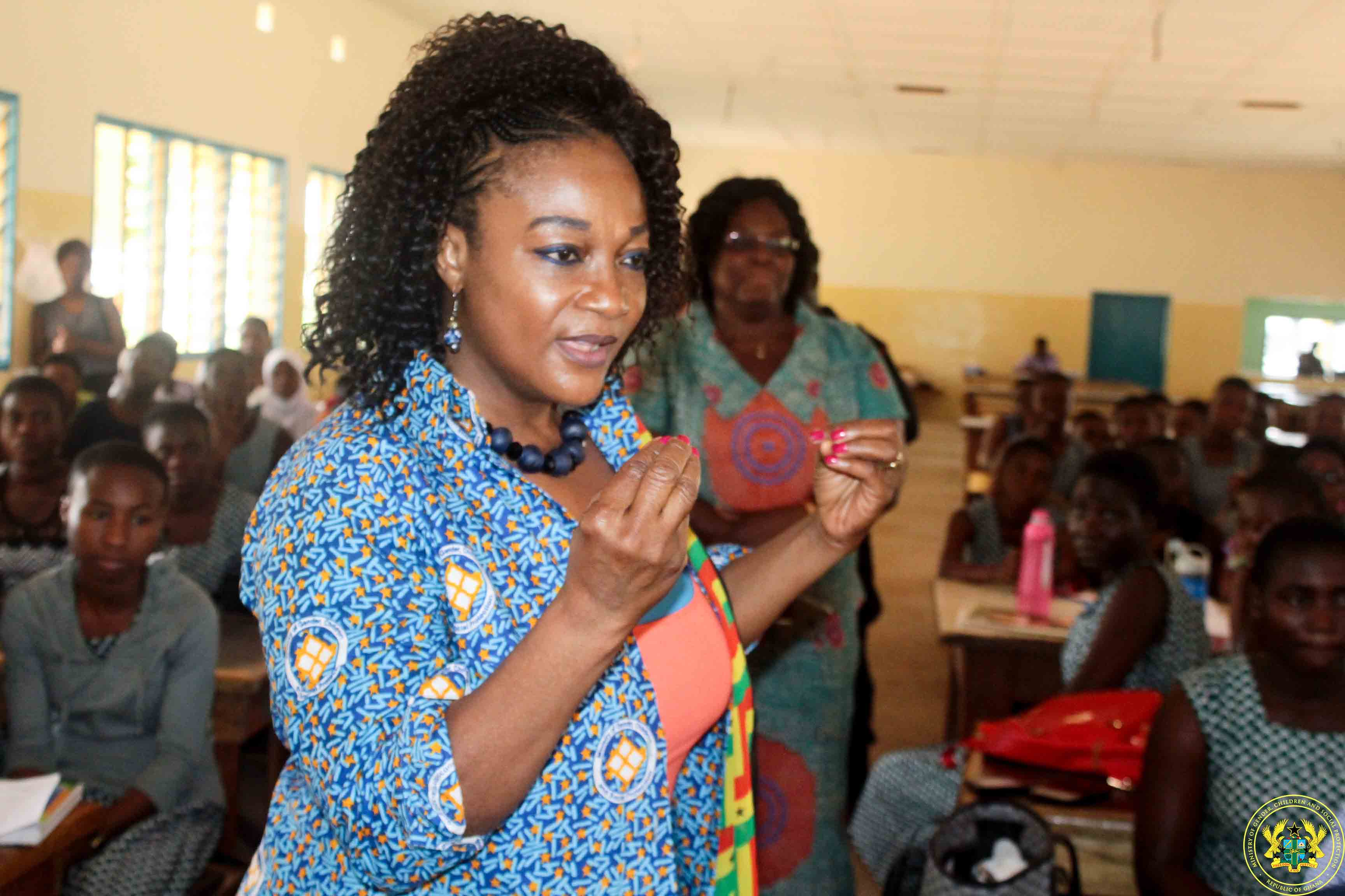 FREE SHS: YOUR GOLDEN OPPORTUNITY- GENDER MINISTER TELLS YOUNG GIRLS