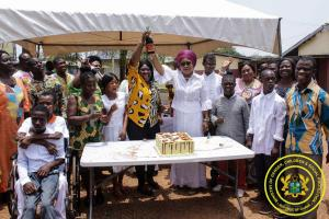 Celebration of President's Birthday with Children Disability at the Social Welfare Centre in Kumasi