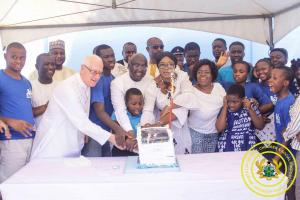 Celebration of Vice President Birthday with Children with special need