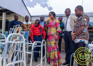 Donation of Wheelchairs, Crutches, Zimmer Frames by Rotary Club to the Accra Rehabilitation Centre