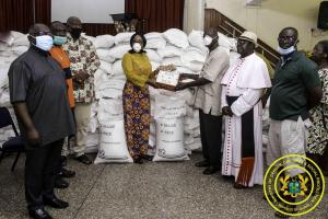 GoG Presents Food Items to FBOs to support the Poor & Vulnerable