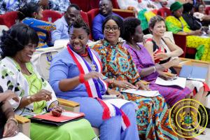 Hon. Cynthia Mamle Morrison attends the Open Ceremony of the 4th Young African Women Congress