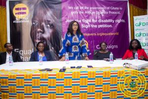 Hon. Minister Cynthia Mamle Morrison attends Launch of 'Global Campaign for an Equal World'