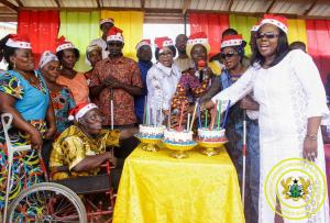 Hon. Minister Cynthia Morrison Celebrates 55 Birthday with Elderly, PWDs, Children and Vulnerable in Agona Abodom