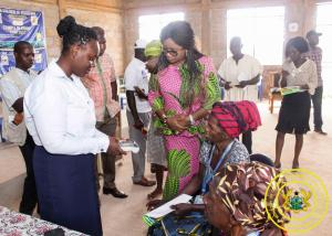 Hon. Minister Cynthia Morrison monitors 57th Cycle LEAP Payment in Agona West