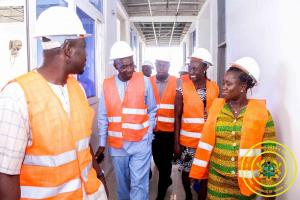 Inspection of New Building Site with Hon. Kojo Appiah-Kubi Chiarperson of the Parliamentarian Committee on Gender & Children
