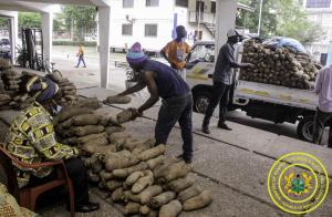 KonKomba Yam Market Association Donates Yams to MoGCSP