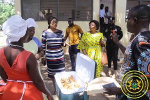 Randoom Spot Check of School Feeding in Tema