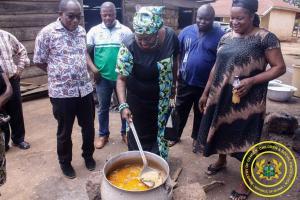 School Feeding Monitoring in Tano North Municipality