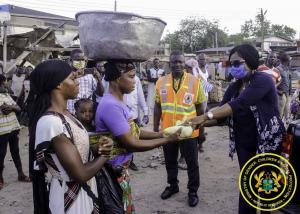 Sharing of food to kayaye and vulnerable