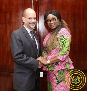 Visit by Christopher J. Lamora, Chargé d'Affaires at US Embassy in Ghana